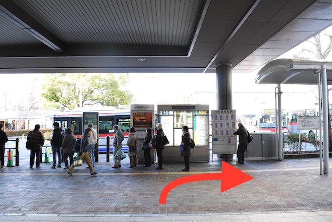大久保恒産本社への道順記事における改札内の写真