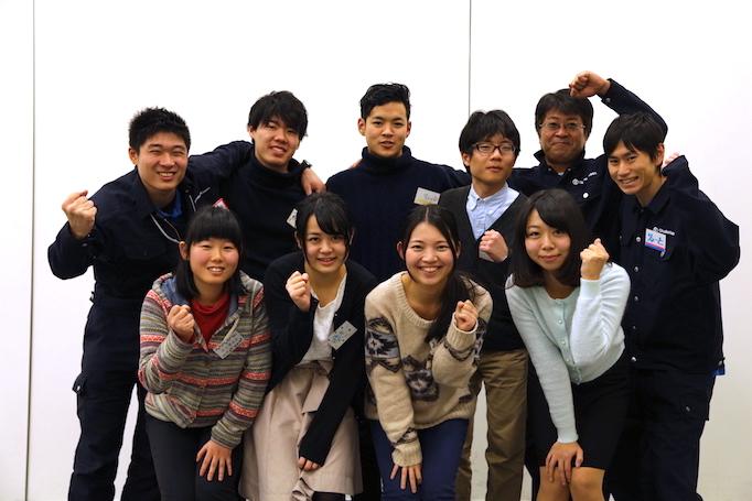 足場職人体感プログラム【HANABI】参加者の集合写真