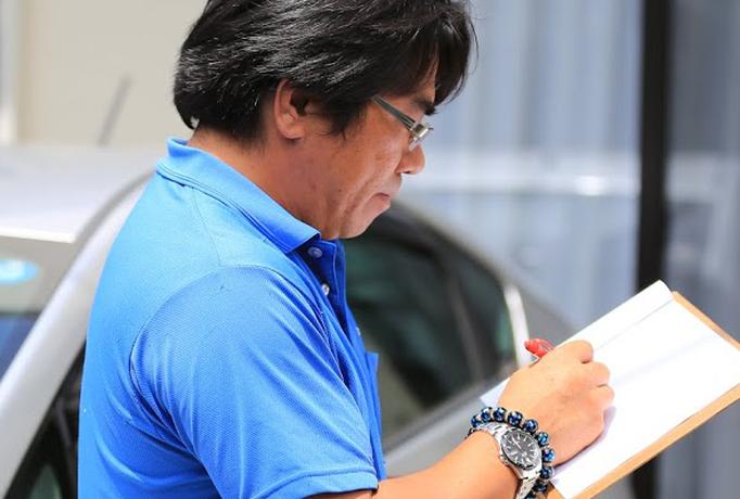 株式会社大久保恒産で働く低層工事部副部長名田さんの写真