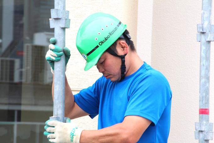神奈川県にある足場の施工会社株式会社大久保恒産で働く低層工事部奥山さんの写真