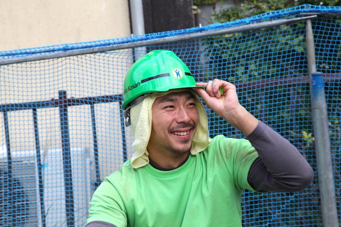神奈川県青葉区にある足場施工会社 株式会社大久保恒産で働くイケメン請負職人館山さんの写真